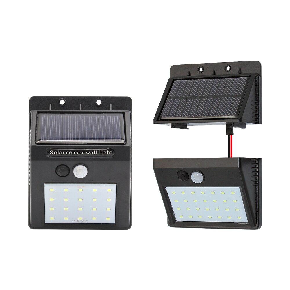 1 X Solar Powered Lamp Separable PIR Motion Sensor Light IP65 Waterproof Wall White Lamp For Outdoor Street Garden Decoration