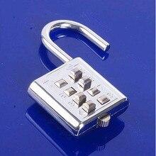 4 Dígitos Push Button Combinación Número Equipaje Código Viajes Lock Candado de Plata