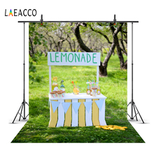 hot deal buy laeacco photo backdrops green spring grass booth lemonade shop tree baby portrait outdoor scenic photo backgrounds photo studio
