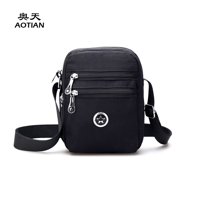 Sky fantasy waterproof nylon small cute women cross body messenger bag vogue Korean style classic fashion girl mini handbag flap squirrel fashion rivet punk nylon with leather english style girls backpacks doodle classic vogue popular cute women travel bag