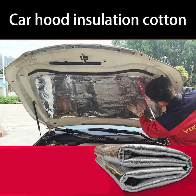 lsrtw2017 free shipping Car hood engine noise insulation cotton heat for dodge journey fiat freemont punto panda ...