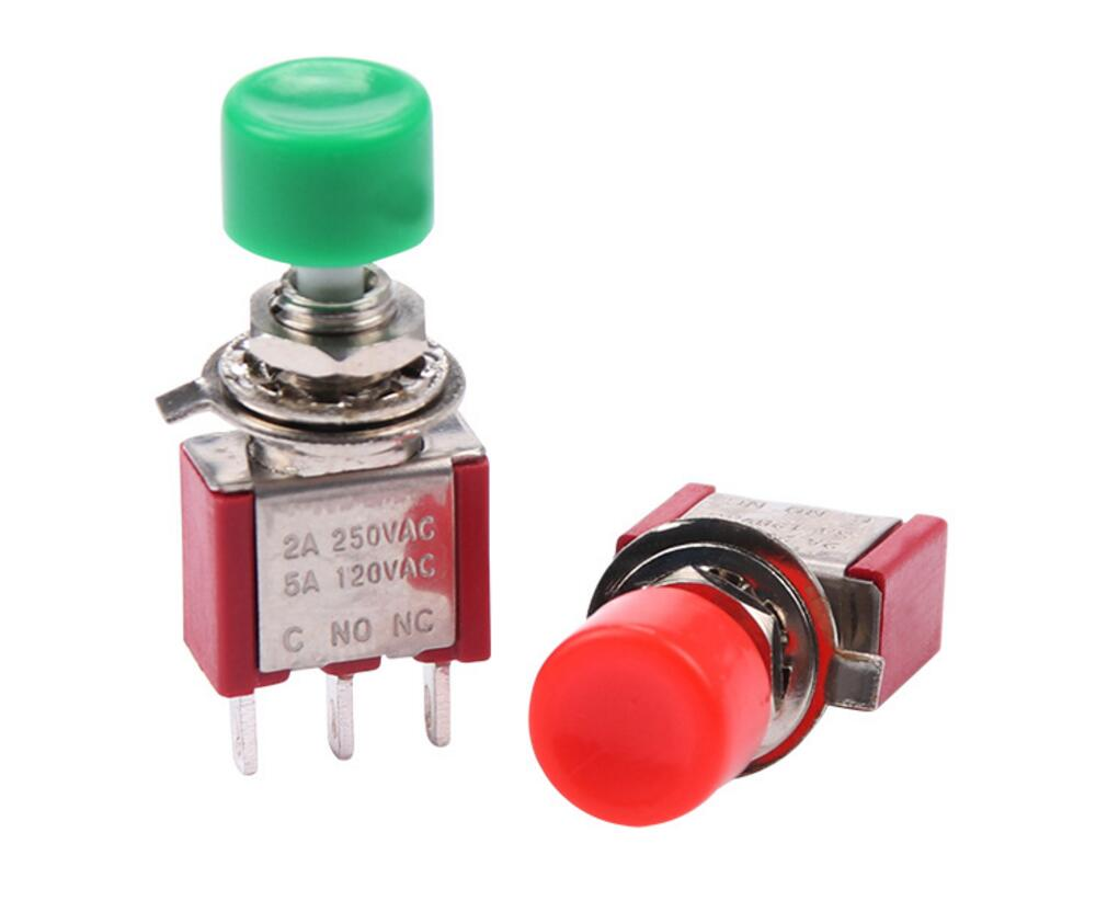 5PCS AC 2A/250V 5A/120V 3 Pin SPDT Momentary Push Button Pushbutton Switch 1 NO 1 NC ac 3 2a 5a motor protection thermal overload relay 1 no 1 nc