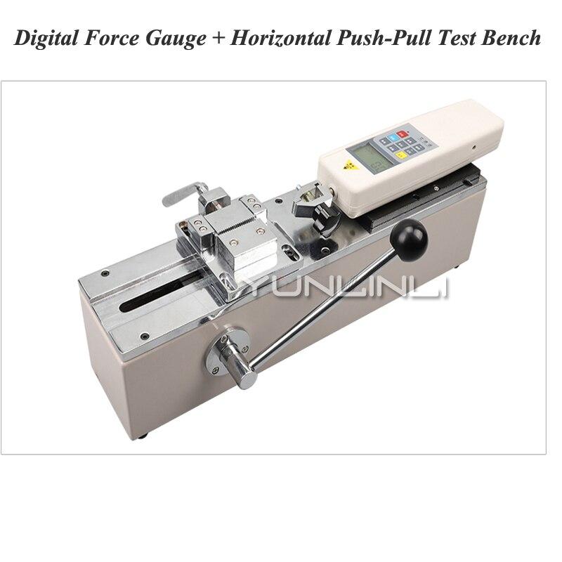 HPS Push-Pull Force Mètre Manuel Horizontal Machine de Test Test Porte-Outil Terminal Harnais Traction Traction Force Test Equipment
