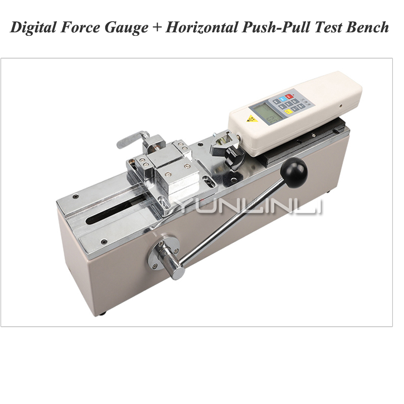 HPS Push-Pull Force Mètre Manuel Horizontal Machine de Test Test Porte-Outil Terminal Harnais Traction Traction Force Test Equipment