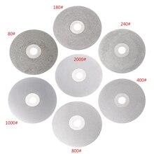 4 100mm 80-2000# Diamond Coated Flat Lap Wheel Lapidary Polishing Grinding Disc