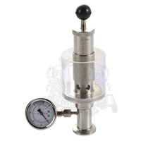 1.5 (OD50.5mm) tri clamp sanitary air release valve / pressure gauge fermenter spunding valve