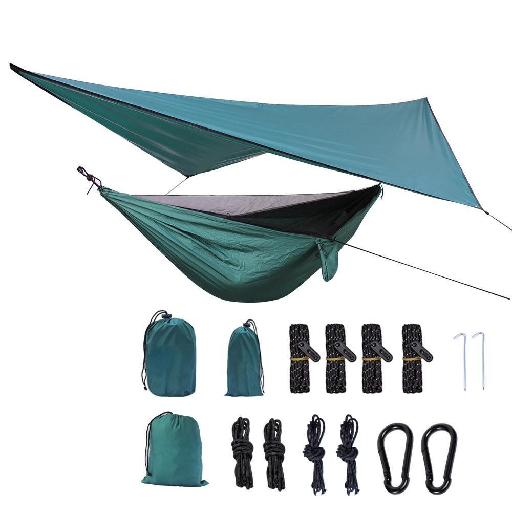 Outdoor Sports Camping Tent Mosquito Net Parachute Hammock Camping Hanging Sleeping Bed Portable With Sun Shelter