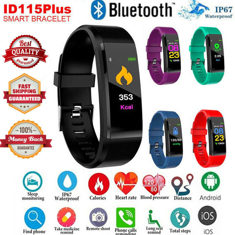 Smart Bracelet Sport Bluetooth Wristband Heart Rate Monitor Watch Activity Fitness Tracker ID115 SmartBand PK Mi band 2 3 watchSmart Bracelet Sport Bluetooth Wristband Heart Rate Monitor Watch Activity Fitness Tracker ID115 SmartBand PK Mi band 2 3 watch
