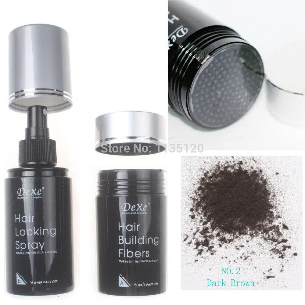 Dexe Hair Building Fibers 22g Dark Brown Color Hair Locking Spray