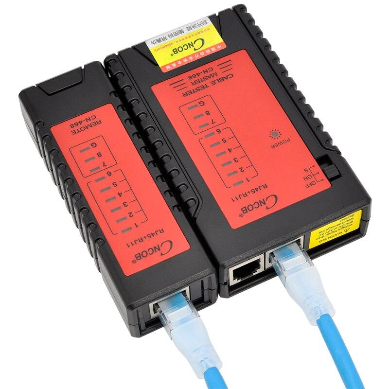 CNCOB Ethernet Testeur de Câble RJ45 RJ11 RJ12 CAT5E CAT6 LAN Câble Testeur de Test de Réseau Outils vérifier pour UTP/STP réseau câble