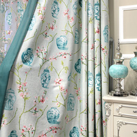 European Blackout Curtains Living Room Plants Floral Luxury Kitchen Curtains For Bedroom Window Cortinas Shading 85