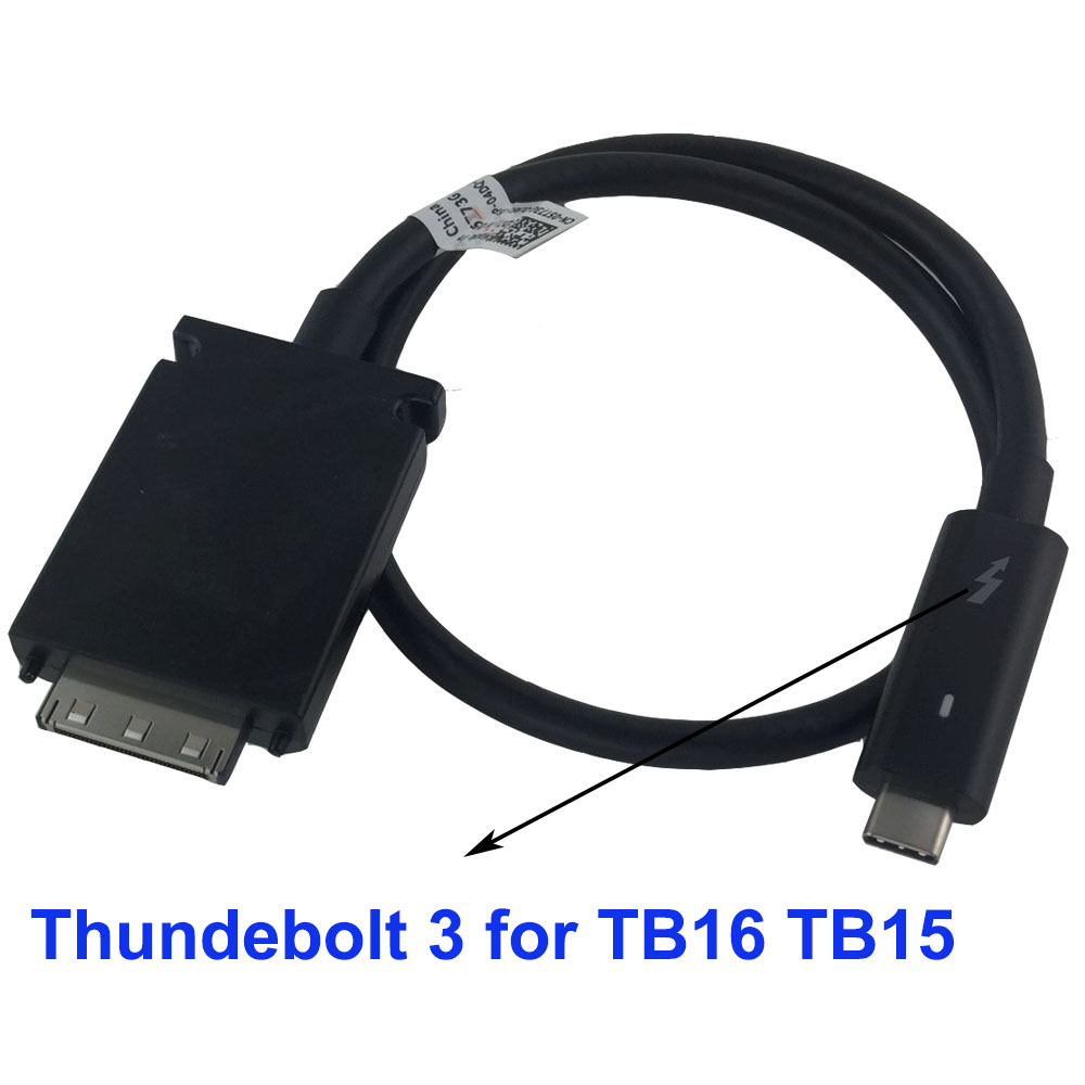 US $13 28 24% OFF|DIY replacement cable for Dell Dock TB16 TB15 WD15 K16A  cable 5T73G change USB C Thunderbolt 3 cable on TB15 WD15 TB16 on