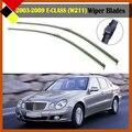 Автомобилей Мягкие Резиновые Стеклоочиститель Бескаркасные Лобовое Стекло 1 Пара Для Mercedes-Benz E-CLASS (W211) 2003-2009