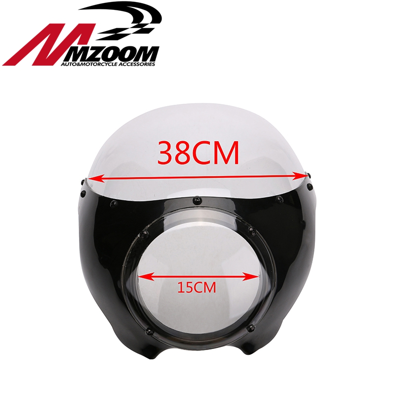 FREE SHIPING Sale New Arrived Motorcycle Black 5 3 4 Cafe Racer Headlight Fairing For Sportster