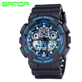 SANDA Brand Men Sports Watches LED Digital Watch Fashion Outdoor Waterproof Military Men's Wristwatches Relogios Masculinos