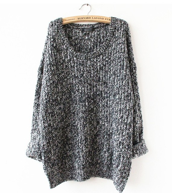 Mujeres de Gran Tamaño de Punto Suéter 2016 Otoño/Invierno Nueva Llegada