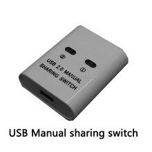 New Brand USB 2.0 Hub Manual Sharing Switch 2 Ports for Computer PC Printer Mini NI5L High quality hot sale