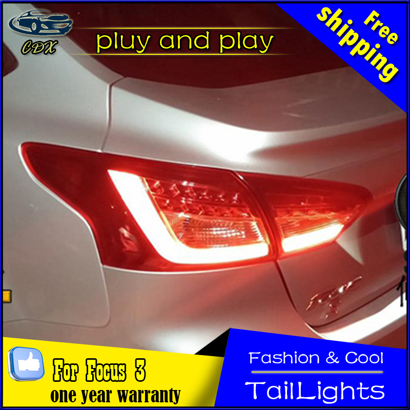 Car Styling Tail Lamp for Ford Focus 3 Tail Lights 2012-2014 Focus  LED Tail Light Rear Lamp LED DRL+Brake+Park+Signal Stop Lamp