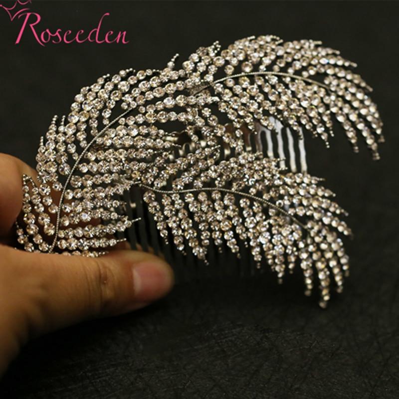 rhinestone legering lämnar kvinnor hår kamar brudborr hårnålar - Märkessmycken - Foto 6