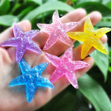 10pcs/lot Cute Flatback  Starfish  for Phone case Decorating    Resin Cabochons  Scrapbook DIY Embellishment  50mm