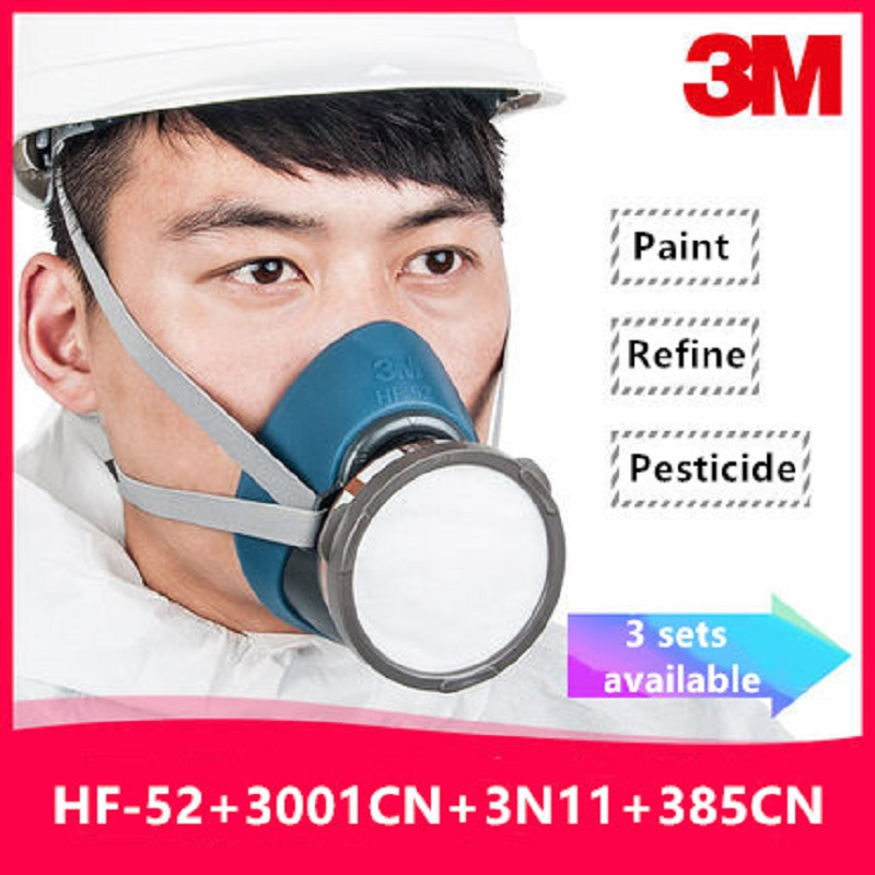 Image 2 - 3M HF 52 Gas Mask Respirator Painting Pesticide Refine New Upgraded Version 3200 Chemical Carbon Filters Safety Decoration MaskChemical Respirators   -