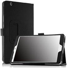 """Folio pu del soporte del cuero smart cover case para huawei mediapad m3 8.0 octa core 8.4 """"android tablet con sueño/wake"""