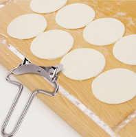 Prensa de masa de acero inoxidable máquina de bolas de masa molde Pie raviolis utensilios de pastelería círculo DIY molde para Bola de masa hervida cortador de forma redonda