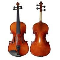 Oil Varnish Beginner Violin Handcraft Maple Wood Violino Music Instrument+Case+Bow String+Rosin+Mute TONGLING Brand OEM