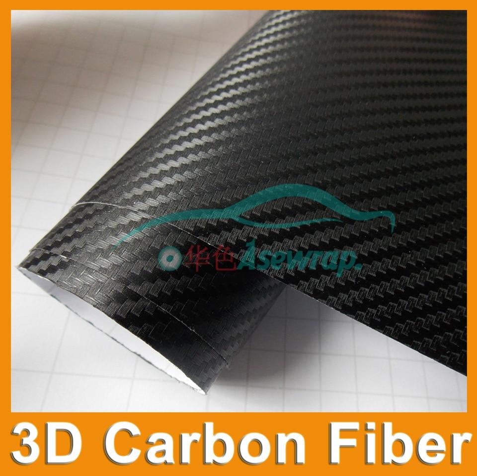 30cmx127cm Película de envoltura de coche de vinilo de fibra de - Accesorios exteriores para automóviles