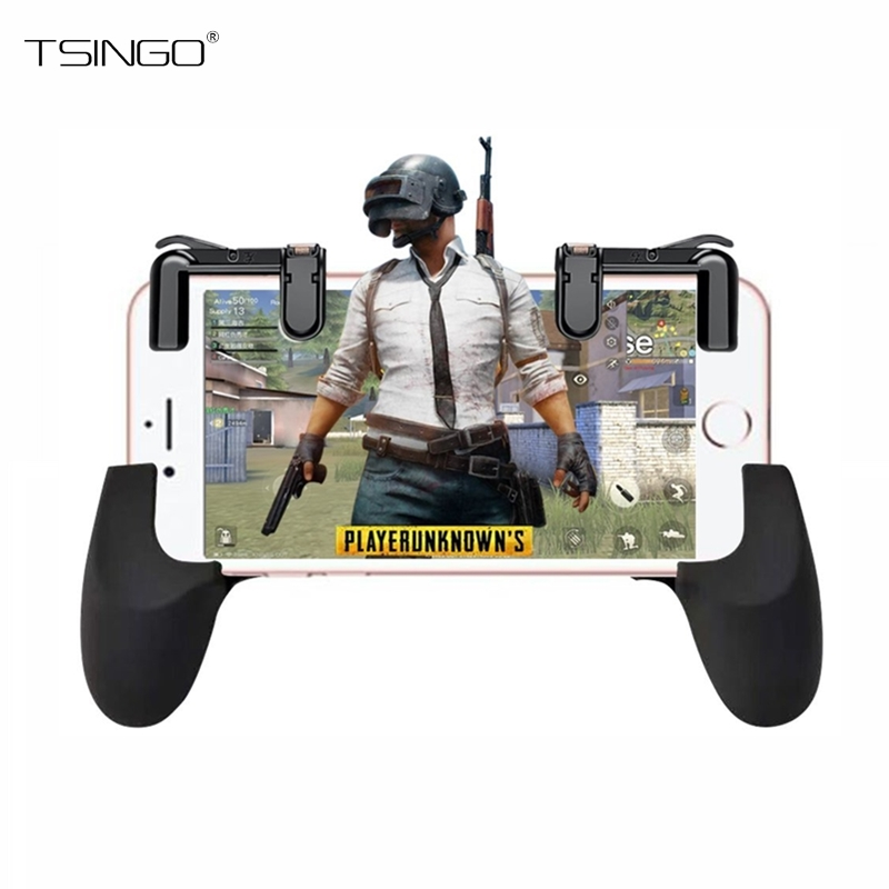 TSINGO Phone Game L1/R1 Trigger Fire Button and Aim Key For PUBG/Fortnite/Rules of Survival Gamepad Controller Shooter Joysticks
