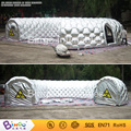 Outdoor Durable oxford sliver long toy tents Inflatable Entrance Tunnel