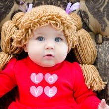 baby Photo Prop Yarn Wig Yarn Hat Crochet Funky Hat Wig Hat