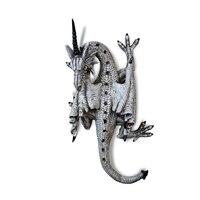 Resina Retro colgante de pared decoración colgante Evil dragón cuatro pies adornos dragón negro/blanco solo ángulo dragón decoración del hogar