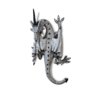 Retro resin wall hanging dragon decoration hanging Evil four feet dragon ornaments black/white single angle dragon home decor