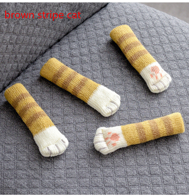 2019 New Cute Knitting 9 Colors Available Noise And Slip Prevent HomeuseTable And Chair Leg Cartoon Protection Covers