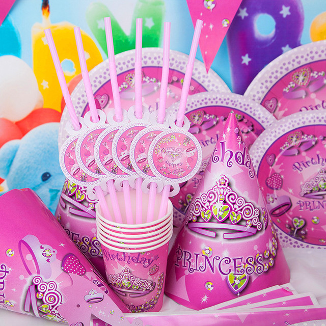 Aliexpresscom Buy DIY Princess girl Kids Birthday Decoration