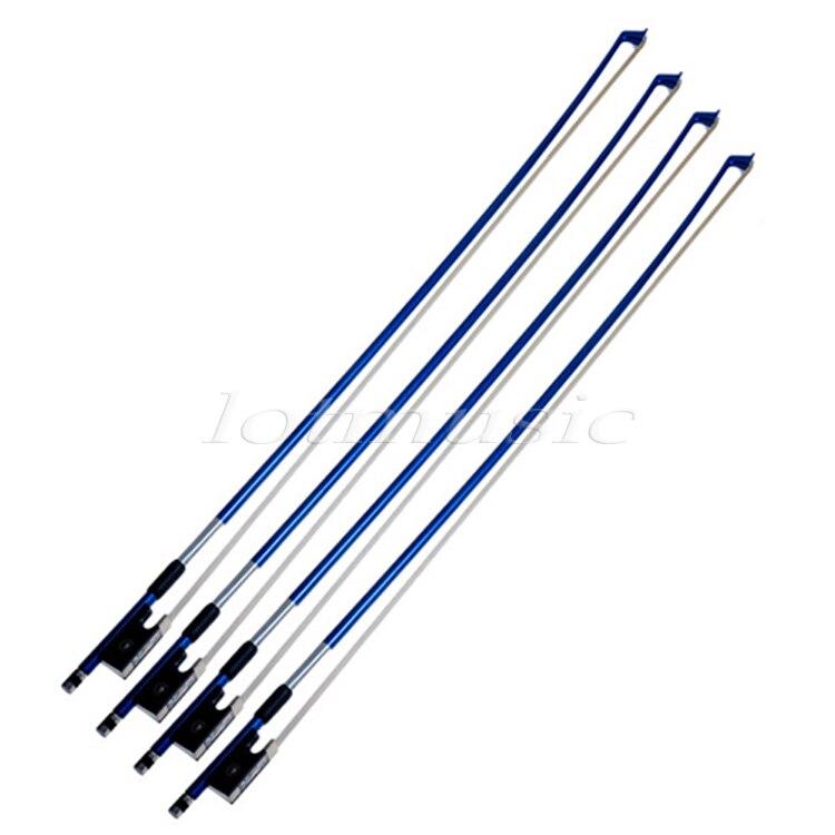 4 sets bleu 1/8 violon arc en Fiber de carbone bâton cheval cheveux grenouille