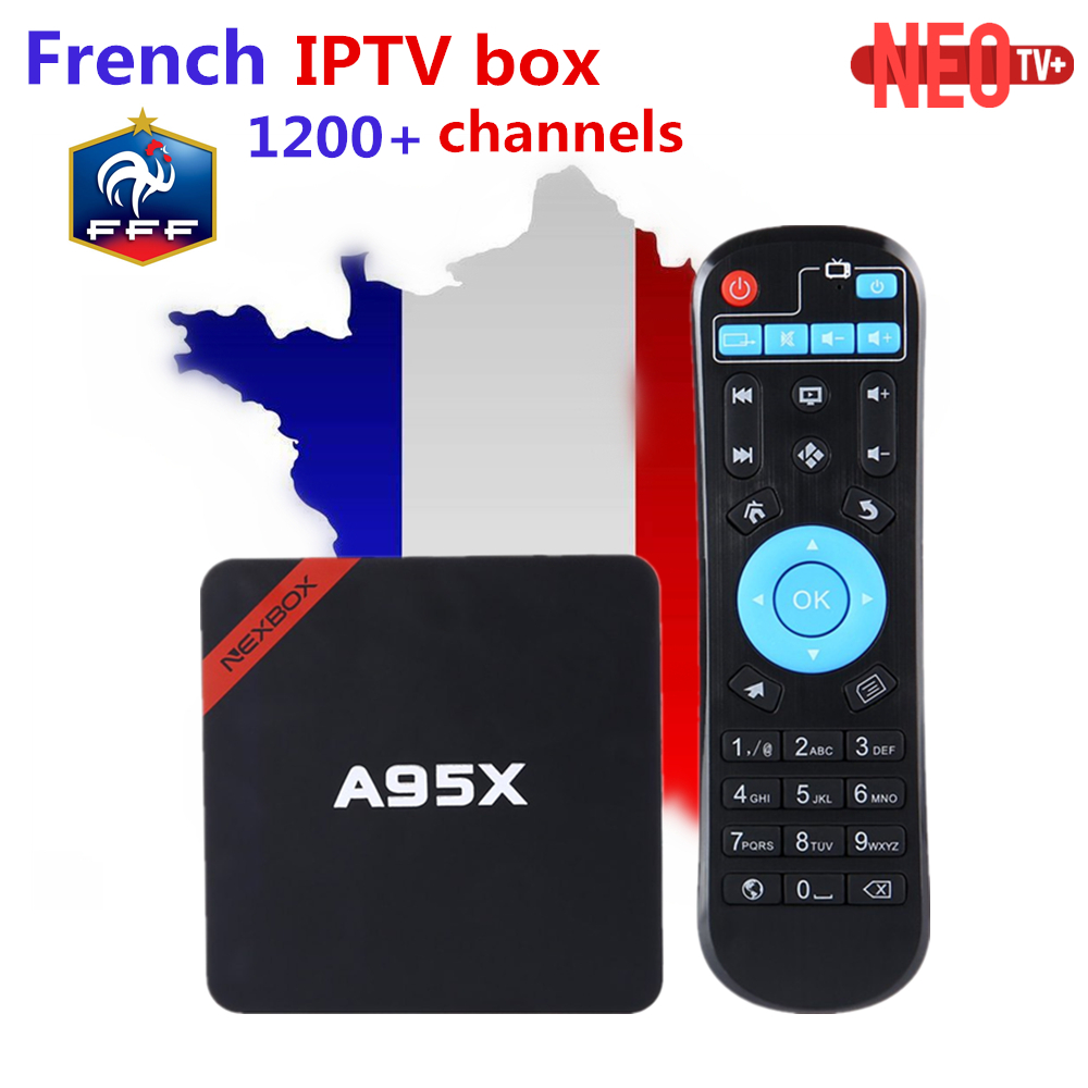 French Belgium IPTV RK3229 A95X-R1 Android 6.0 TV Box +1200+ NEOTV Europe Arabic Morocco Germany Italy PayTV & VOD Set top Box a95x pro voice control with 1 year italy iptv box 2g 16g italy iptv epg 4000 live vod configured europe albania ex yu xxx