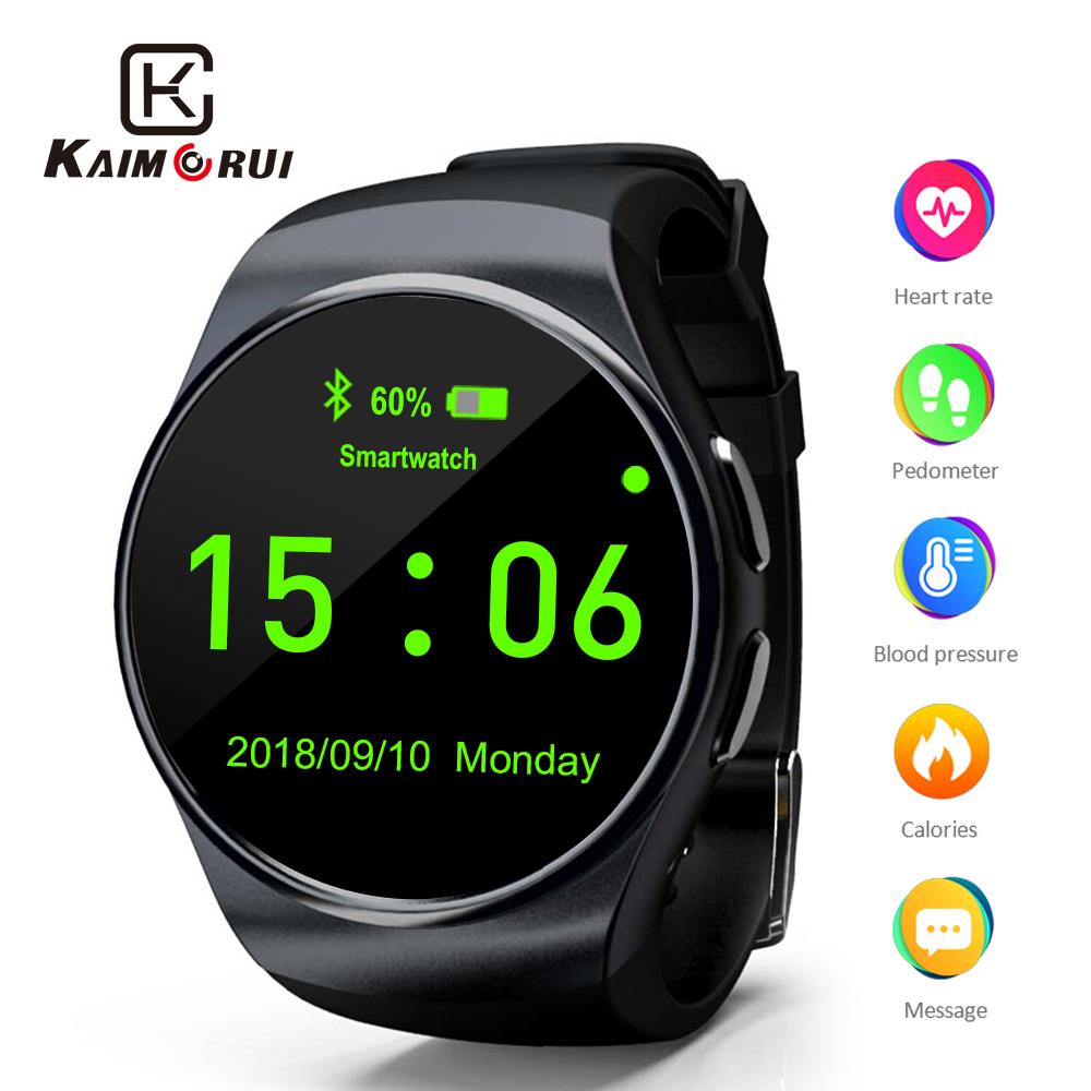 Smart Watch Support SIM TF Card Bluetooth Smartwatch Phone Pedometer Heart Rate for iPhone Xiaomi Android