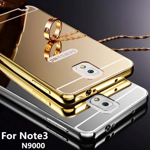 finest selection dbebe 6f4b4 US $4.99 |for Samsung GALAXY Note3 Note III 3 N9000 Bumper Case Golden  plating Aluminum Frame + Mirror Acrylic Back Cover Cases SM N900-in Phone  ...