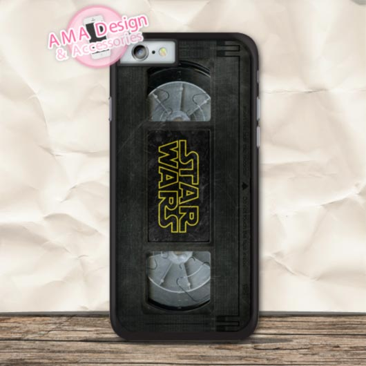 Vintage Star Wars Film Tape Protective Case For iPhone X 8 7 6 6s Plus 5 5s SE 5c 4 4s For iPod Touch