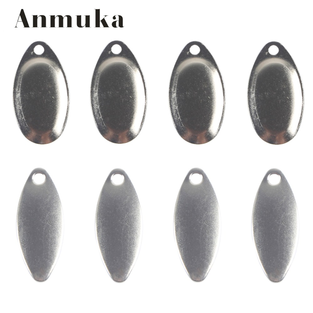 Anmuka 10PCS Noise Sequins Spinner Baits Metal Fishing Lure Spoons Paillette Artificial Spoon Lures Bass Lures Metal Sequin Bait bammax fishing lure 1 box metal iron hard bait sequins shore jigging spoon lures fishing connector pin fishing accessories pesca