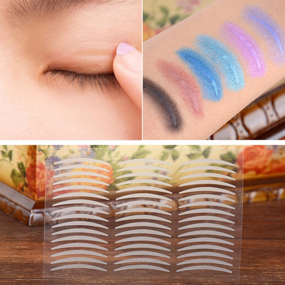 960pcs S M Makeup Clear Beige Eyelid Stripe Big Eyes Invisible Double Fold Eyelid Shadow Sticker Double Eyelid Tape Beauty Tools