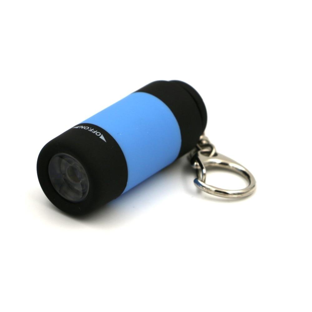 Mini Pocket Keychain Pocket Torch USB Rechargeable LED Light Flashlight Lamp