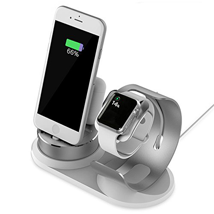 Elexus Watch Charger Station for iPhone&Watch Series 3/2
