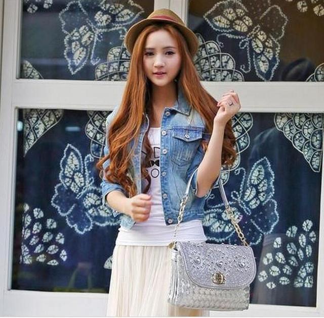 newest 07261 70f49 US $14.38 20% di SCONTO|Giacca Jeans delle donne 2017 Donne di Base  Cappotto Giacca di Jeans da Donna Plus Size 4XL Giacca di Jeans Per Le  Donne Denim ...