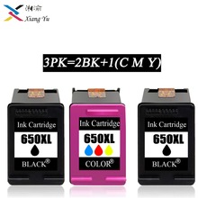 3PK 650XL Compatible Ink Cartridge Replacement for HP 650 XL for HP Deskjet 1015 1515 2515 2545 2645 3515 3545 4515 4645 free shipping 2016 [hisaint] 2pk 650xl bk color ink cartridges for hp deskjet 1015 1515 4645 ink jet printer hot sale