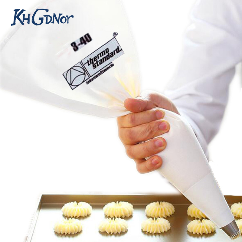 35/40/46/50/55/60cm 100% Cotton Cream Pastry Icing Bag Baking Cooking Cake Tools Piping Bag Kitchen Accessories Eco-Friendly(China)