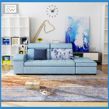 linen fabric sofa bed living room furniture couch/velvet cloth sofa  bed living room sofa bed sectional multifunctional