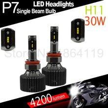P7 30 W 4200LM DC11V-30V 2 Unidades H11 5000 K 6000 K Fuente de Luz Del Coche Auto Lámparas LED Bombillas de los faros Luces exteriores